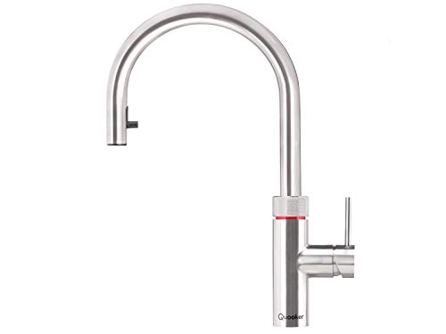 Quooker Flex COMBI 2.2 E Kochendwasserhahn/Kochendwasser-Armatur & Mischbatterie/ausziehbarer Auslauf/Edelstahl (RVS)