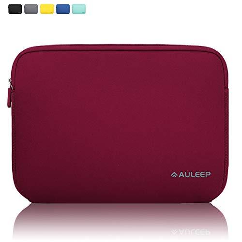 AULEEP Laptop Hülle Tasche, 15-15.6 Zoll Neopren Laptophülle/Wasserabweisende Schutzhülle für Laptops Acer/Asus/Dell/Lenovo/HP, Draht rot