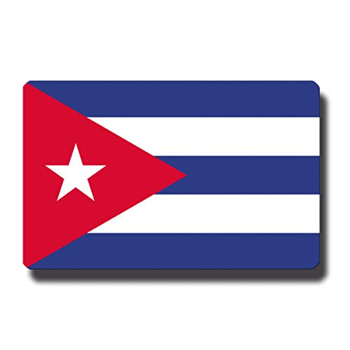 Kühlschrankmagnet Flagge Kuba - 85x55 mm - Metall Magnet mit Motiv Länderflagge
