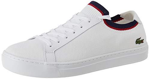 Lacoste LA PIQUEE 119 1 CFA  Zapatillas Mujer  Blanc (Wht/Nvy/Red 407)  36 EU