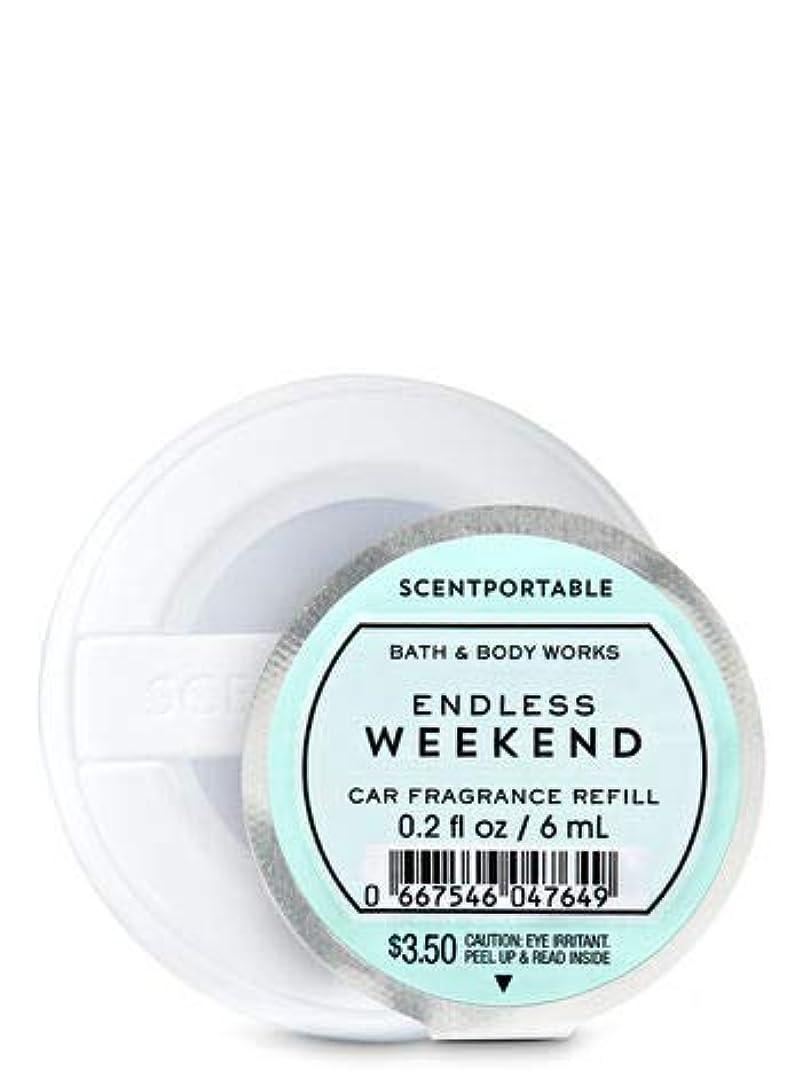 死んでいるスラッシュ避難する[Bath&Body Works] バス&ボディワークス カーフレグランス クリップ式芳香剤用 詰め替え エンドレスウィークエンド 6個セット