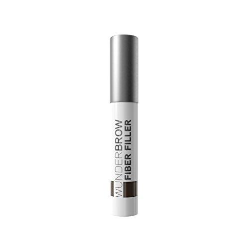 Wunder2 FIBER FILLER Makeup Eyebrow Powder Easy Eye Brow Shaper Long Lasting Transferproof, Brunette 0.07 Ounce