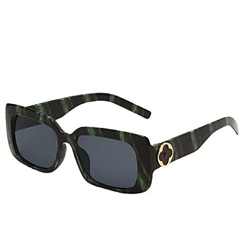 JINZUN Gafas de Sol de Moda Gafas de Sol de Tendencia Marco Retro Sombra Espejo Protección UV Unisex C6