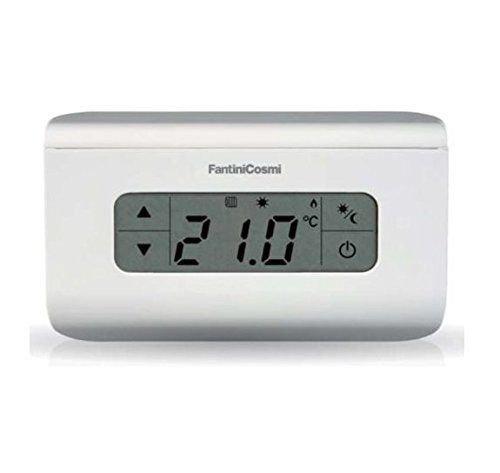 Fantini Cosmi CH115TS Termostato Ambiente a Batterie Touchscreen, Bianco