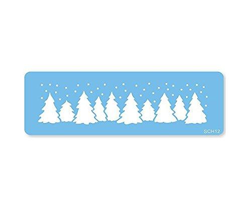jem PME sch12 Natale Foresta di Stencil, Plastica, Blue, cm, 15x 1x 15cm, 1unità