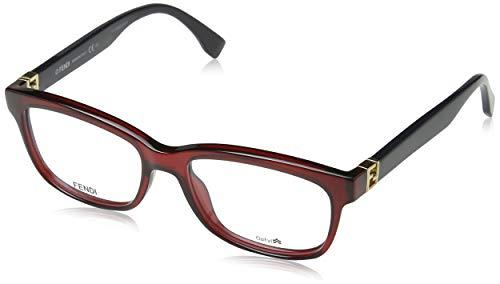 Fendi Brillengestelle FF 0009 Rechteckig Brillengestelle 53, Rot