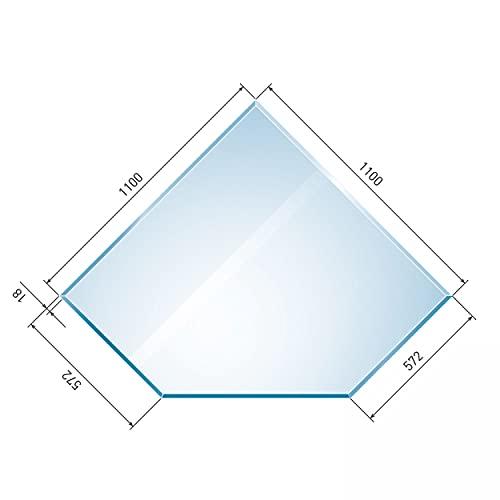 raik B40002 Raik Kamin Glasplatte Diamant inkl. Facette
