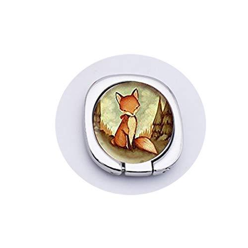 bab Fox Tier-Anhänger, Fuchs-Halskette, roter Fuchs, Mond-Schmuck, Handy-Accessoires, goldfarbener Ring-Griff, Sicherheit