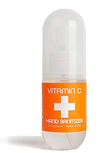 Vitamin C Hand Sanitizer | Lightly Scented | Fast Absorbing Mist | Kills Bacteria | Perfect for Home, Office, or On the Go | Made in USA (2 oz)