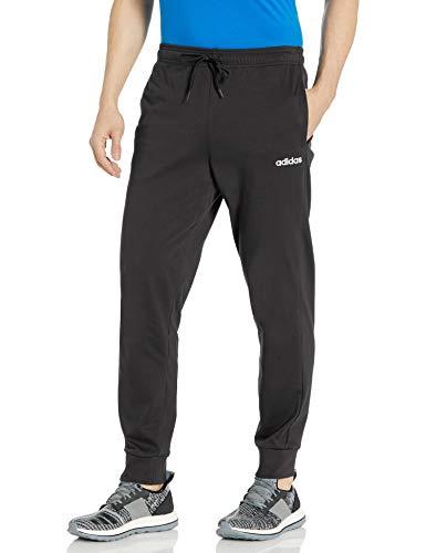 adidas Men's Essentials Single Jersey Jogger Black/White Large