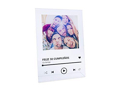 Oedim Placa Metacrilato Musica Spotify Personalizado | Fabricado en Metacrilato 4mm | 19,5 x 28,2cm | En Efecto Espejo | con Apoyo