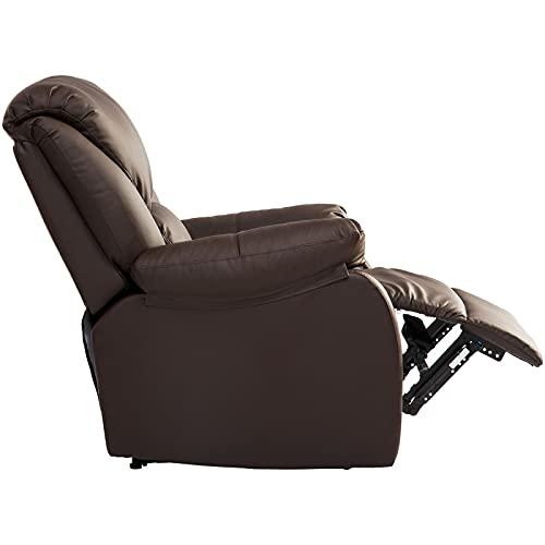 Sillón reclinable Sillón reclinable individual, sillón reclinable con función reclinable, sillón tapizado de cuero sintético, sillón reclinable ajustable, dormitorio, sala de estar, cine en casa relax