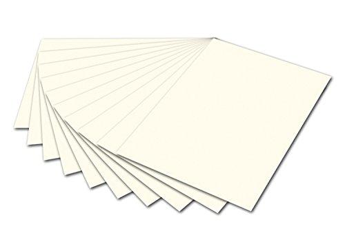 folia 6101 - Fotokarton Perlweiß, 50 x 70 cm, 300 g/qm, 10 Bogen - zum Basteln und kreativen Gestalten von Karten, Fensterbildern und für Scrapbooking