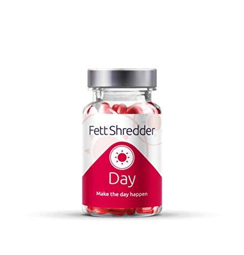 Fettshredder DAY | Inmunidad | Adelgazar Sin Deporte | Potenciador del metabolismo | Pierde peso con L-carnitina | Frambuesa | Vitaminas C, B1, B2 y B12 | para hombre y muje | 60 cápsulas