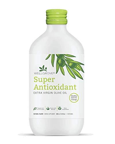 WellGrove Super Antioxidant EVOO | All Natural Vegan Antioxidant Dietary Supplement | Promotes Immunity and Cardiovascular Health | Organic Non-GMO (500ML)