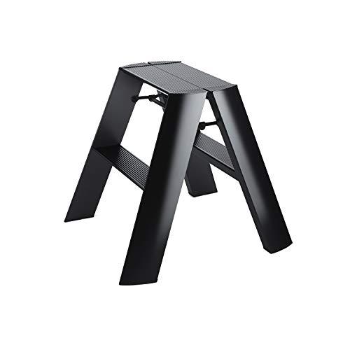 Hasegawa Ladders Lucano Tritthocker, Aluminium, schwarz, Wide 2 Step