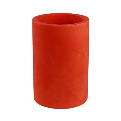 Vondom cilinder hoge bloempot, diameter 40 cm, hoogte 80 cm, rood