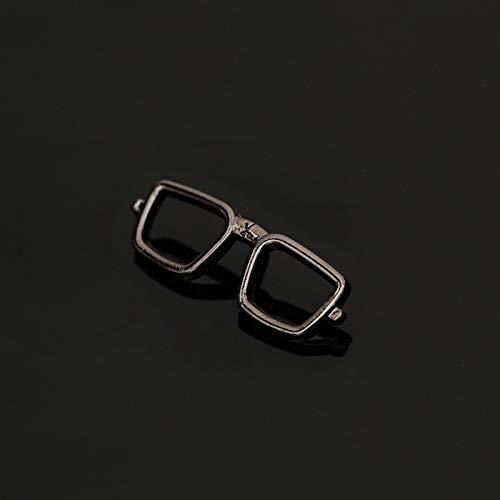 JWGD Moda Esmalte de gasóleo Gafas Gafas de Sol alfileres y broches de los Hombres Traje Vestido Cuello de la Camisa for Hombre Ropa (Color : B)