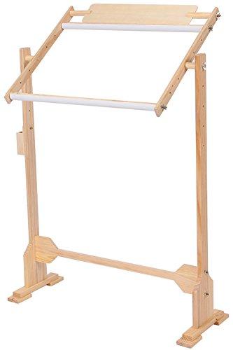 【福美康】クロスステッチ 刺繍 枠 スクロール フレーム キルト 組立式 木製 キット (中型)