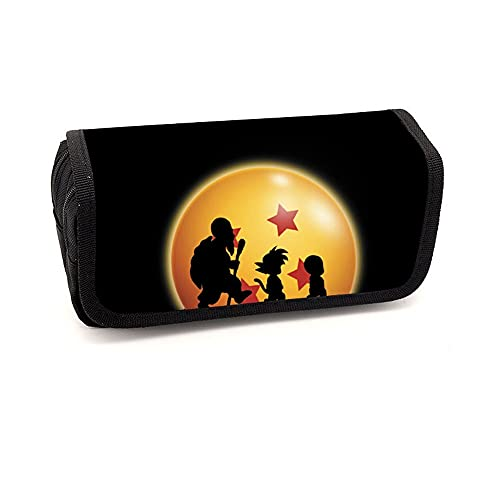 CXWLK Estuche Para Lápices Para Adolescentes Estuche Para Material Escolar Organizador De Papelería Caja De Papelería De Gran Capacidad,Dragon Ball,20cmX9cmX6.5cm