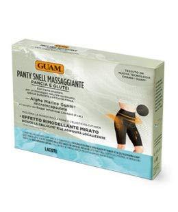 Guam Panty Snell Massaggiante, Colore Nero con Alghe Marine, S/M (42-44)
