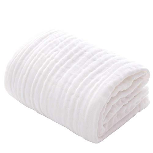 2 Paquetes de Toallas de baño de Muselina para bebés, algodón súper Suave, una Manta de Piel Fina Adecuada para bebés, Adecuada para recién Nacidos, niños pequeños, niños y niñas