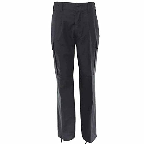 Leo Köhler, pantaloni da campagna in 100% cotone, realizzati secondo TL, 1 paio di elastici per pantaloni, colore nero Nero 30 IT