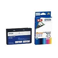 【純正品】 エプソン(EPSON) インクカートリッジ 4色セット1体型 型番:ICCL45 単位:1個