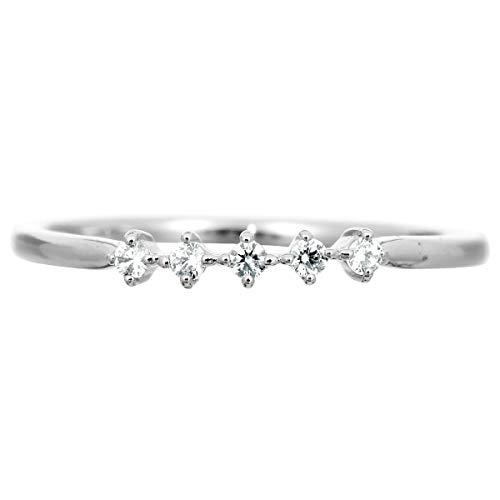 [ココカル]cococaru プラチナ Pt900 ダイヤモンド リング 0.07ct 重ね付け 指輪 6号 ピンキーリング 天然 ダイヤモンド 日本製