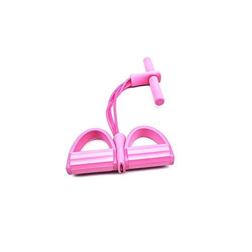 Old street Fake Nail Latex-Gummibänder  4 Resistanc Elastic Pull Ropes Exerciser Rudergerät Belly Resistance Band Home Gym Sporttraining Elastic Bands für Fitnessgeräte-Pink-