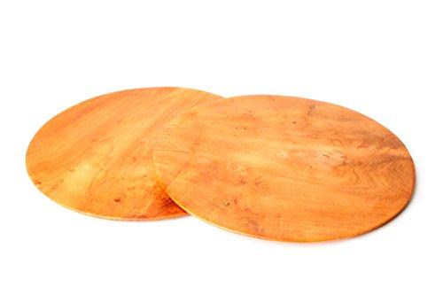 FascinationWood Handgemachter Teakholz Teller/Platte/Servierplatte/Käseplatte Susut