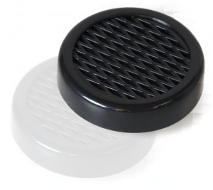 Lifestyle-Ambiente Acrylpolymer-Fleece-Humidorbefeuchter 5,6x1,5cm schwarz inkl Tastingbogen mit Magnethalterung