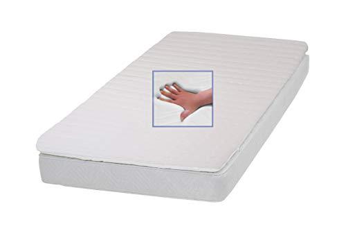 Gel Gelschaum Matratzenauflage Dream Foam Topper Höhe 9 cm 160 x 200 cm Memory Schaum mit Safomed Bezug Geltopper Auflage für Matratze soft weich Schlafen wie auf einem Wasserbett ohne seine Nachteile