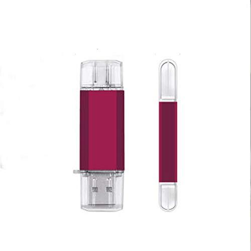 Memoria flash USB tipo C Three-in-One para teléfono Android, metal, 3.0, 64 GB, OTG, color rojo