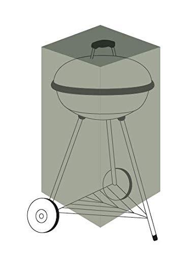 Chalet-Jardin Housse Barbecue Rond Protection INDECHIRABLE Titanium ROND-90g/m² -NOIR-68x68x74cm, Noir