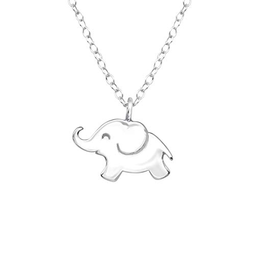 laimons Collar de niña de mujer joyas elefante con cadena 36cm plata de ley 925