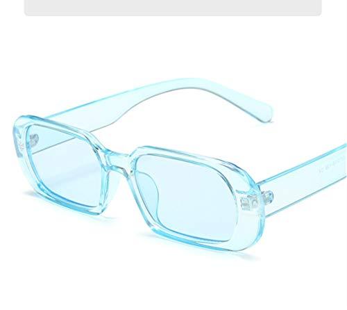 QQGGTongFeng Clásico Marca Pequeñas Gafas de Sol Mujer Moda Oval Sun Glasses Hombres Vintage Vintage Verde Rojo Gafas Damas Estilo Viajando UV400 Gafas para Exterior (Lenses Color : Blue)