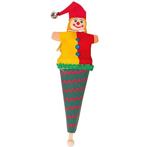 Goki Capserl - Mini marionetas para bolsas, color verde y rojo