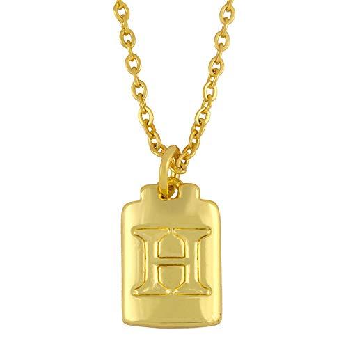 HUITAILANG Collares para Mujer Regalo, Alfabeto AZ, Colgante De Collar Personalizado De Oro De Simplicidad, Gargantilla Delicada De Pareja De Moda, Joyería De Cumpleaños De San Valentín, H