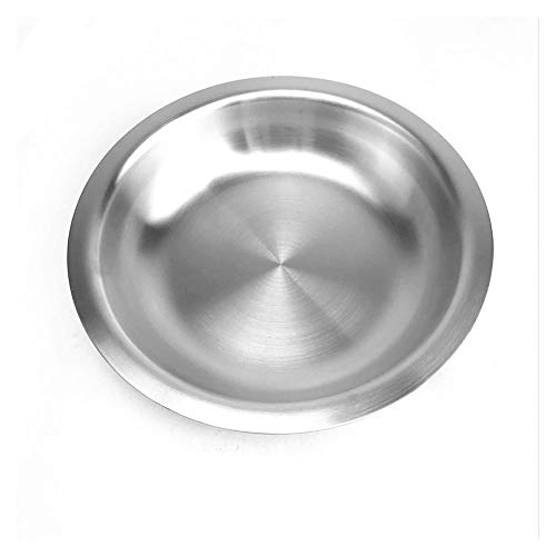 DEI QI Assiettes en acier inoxydable 304 écologiques Assiette à dessert ronde en forme de fruit de la famille, plateau de service dépoli 1 PCS