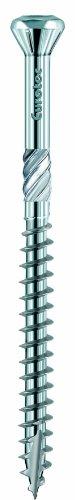 200 Terrassenschrauben EDELSTAHL GEHAERTET VA TX25 5x60 mm Bankirai Hapatec C1