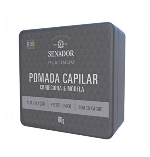 Pomada Capilar Senador Platinum, 60G, Senador