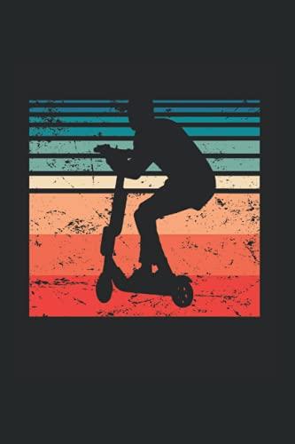 Notizbuch: Vintage Elektro Roller Fahrer E Scooter Racer Notizbuch DIN A5 120 Seiten für Notizen Zeichnungen Formeln | Organizer Schreibheft Planer Tagebuch