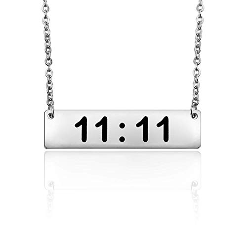 Make A Wish 11:11 Necklace Spiritual Jewelry Wishing Necklace Make a Wish Quote Gift for Women