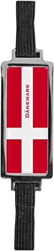 Schmucklesezeichen aus Metall mit gerader Kontur | Flagge Dänemark #9923001