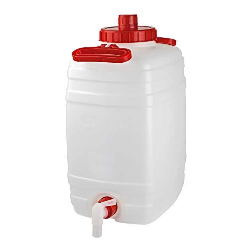 DeTec Gärfass Maischefass Mostfass Getränkefass Weinfass Gärbehälter 25 Liter