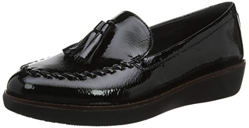 FitFlop Paige Loafer-Patent, Mocasines para Mujer, Negro 001, 36 EU