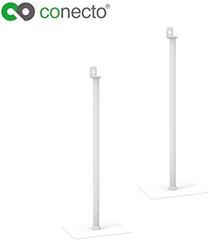 Conecto CC50292 Lautsprecher-Standfu (1 4  oder Play1), Standhhe  1012mm, Traglast  max. 2,0kg, Sockelma  400x300mm, wei (2-er Set)
