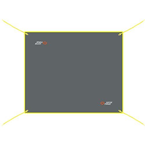 グランドシート テントシート レジャーシート 防水 軽量420D コンパクト 四角 フロア マット タープ ワンポールテント用 アウトドア キャンプ 四角グレー 3サイズ可選 XS 190x190cm/S 210*120cm/M 210*150cm/L 2
