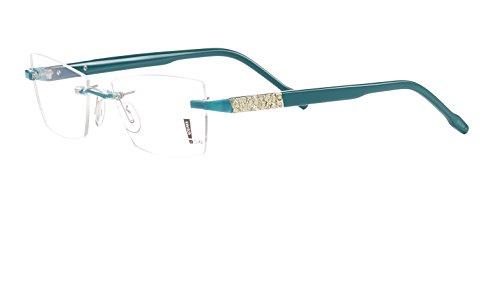 Switch it! Exclusive Garnitur mit Steinen - Acetat Wechselbügel in verschiedenen Farben (9089: petrol-gold)